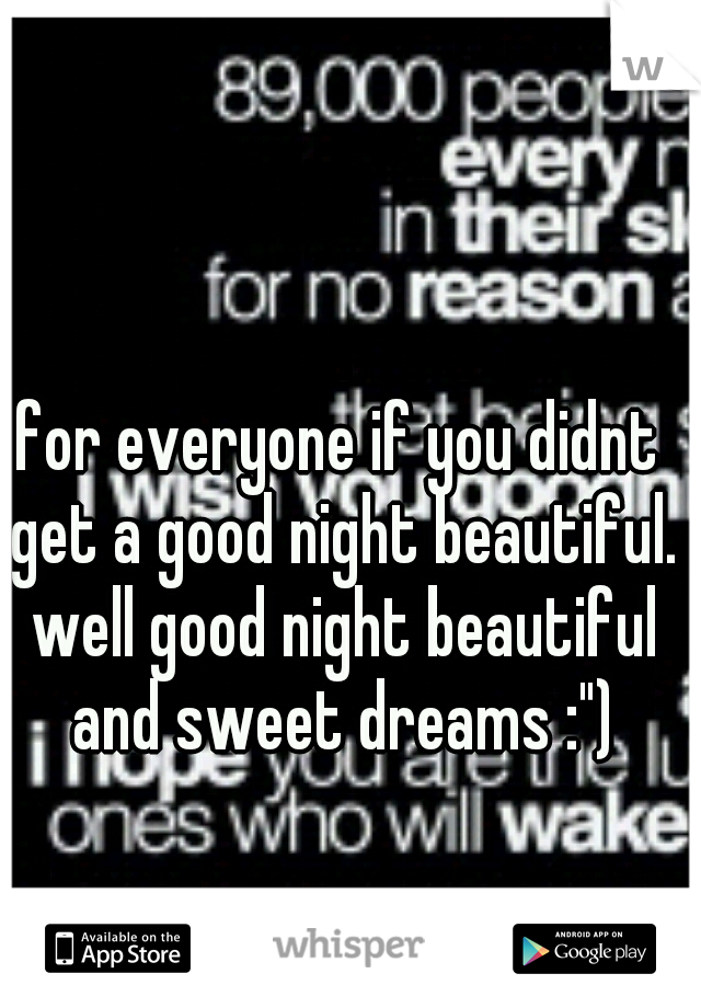 """for everyone if you didnt get a good night beautiful. well good night beautiful and sweet dreams :"""")"""