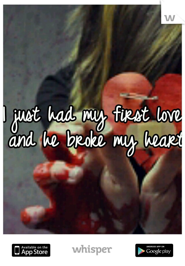 I just had my first love and he broke my heart.