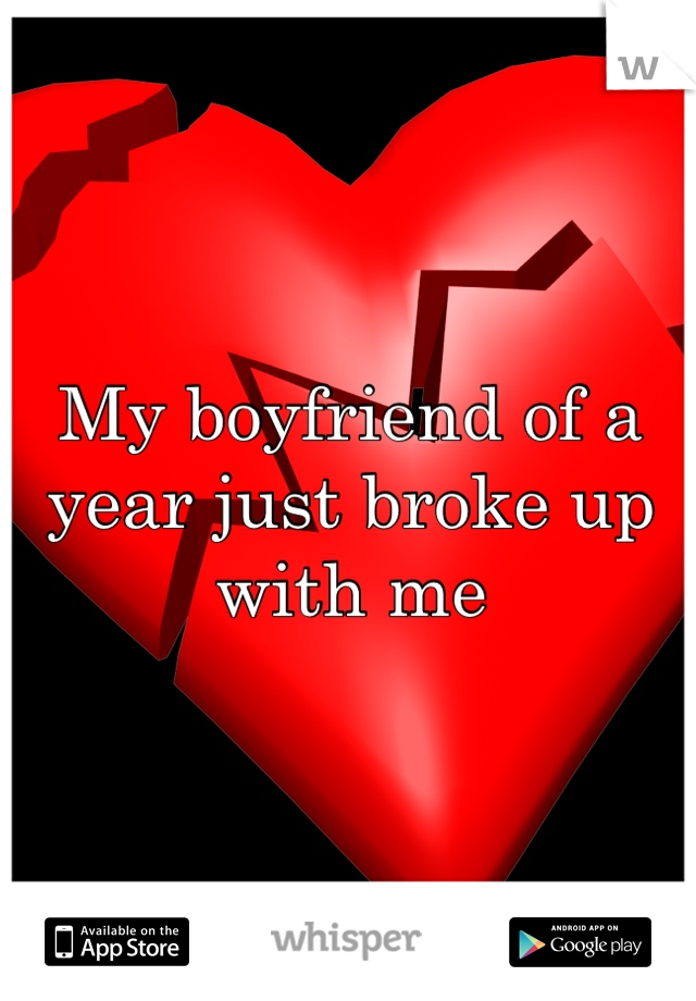 My boyfriend of a year just broke up with me