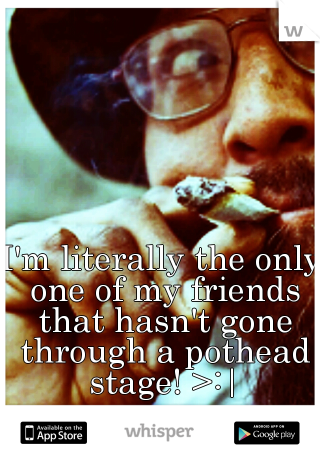I'm literally the only one of my friends that hasn't gone through a pothead stage! >:|