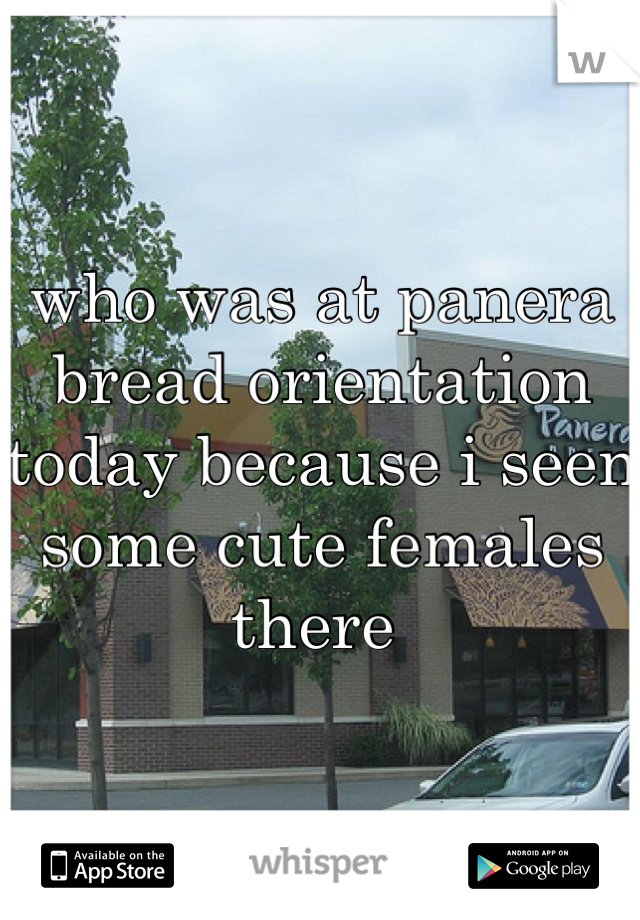 who was at panera bread orientation today because i seen some cute females there