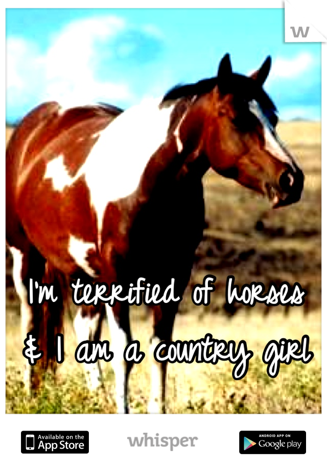 I'm terrified of horses & I am a country girl