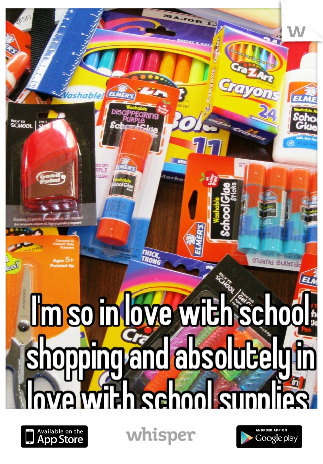 I'm so in love with school shopping and absolutely in love with school supplies
