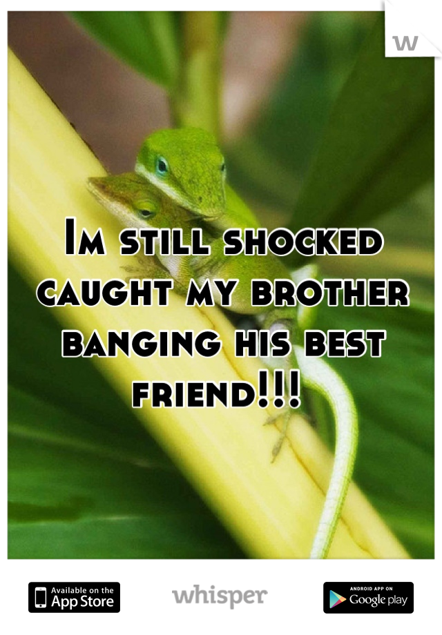 Im still shocked caught my brother banging his best friend!!!