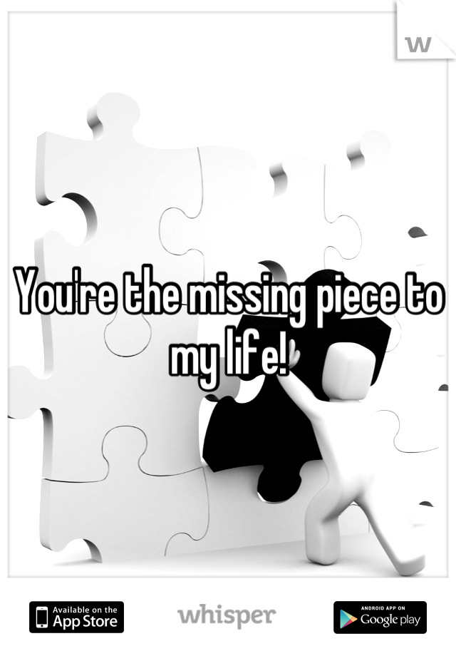 You're the missing piece to my life!