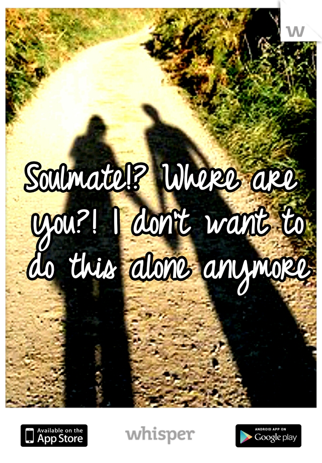 Soulmate!? Where are you?! I don't want to do this alone anymore