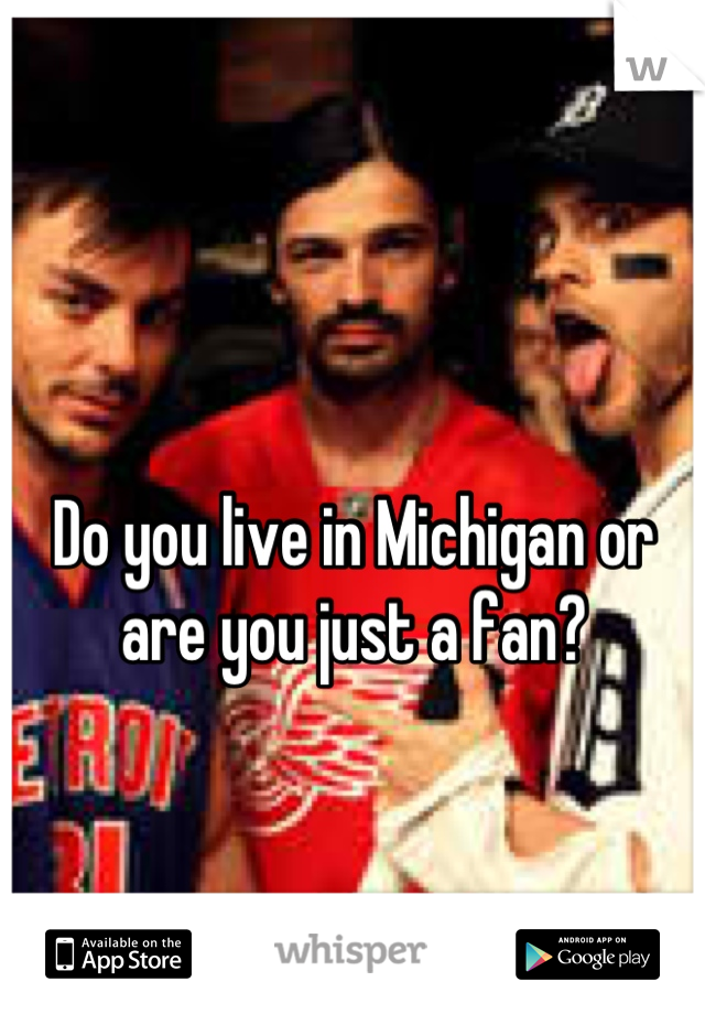 Do you live in Michigan or are you just a fan?