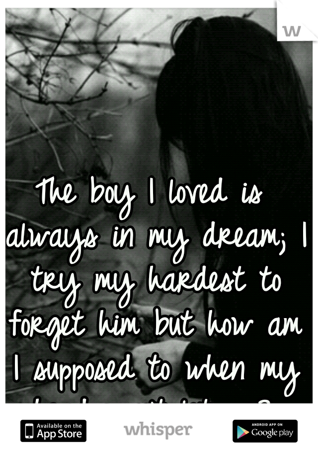 The boy I loved is always in my dream; I try my hardest to forget him but how am I supposed to when my head won't let me?.