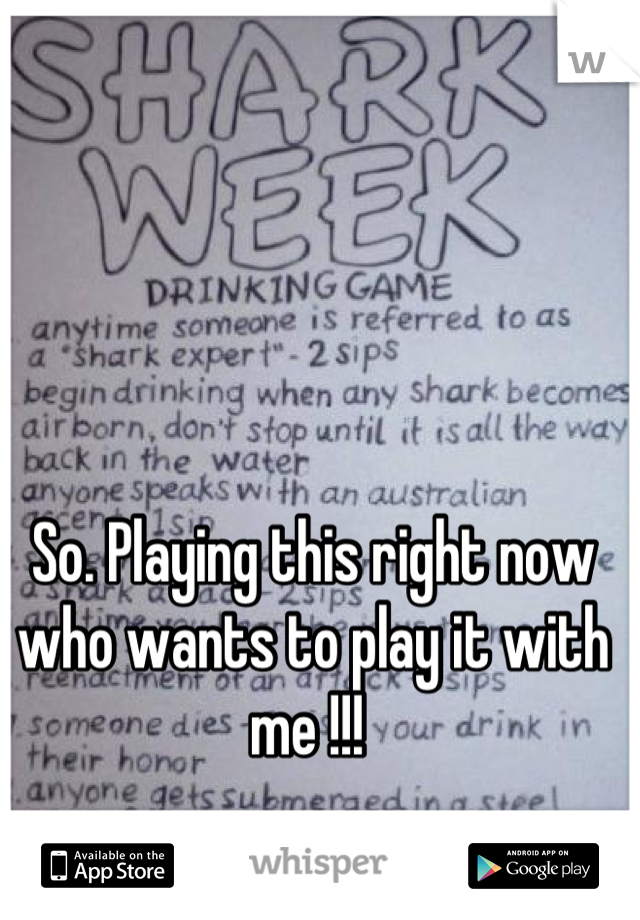 So. Playing this right now who wants to play it with me !!!