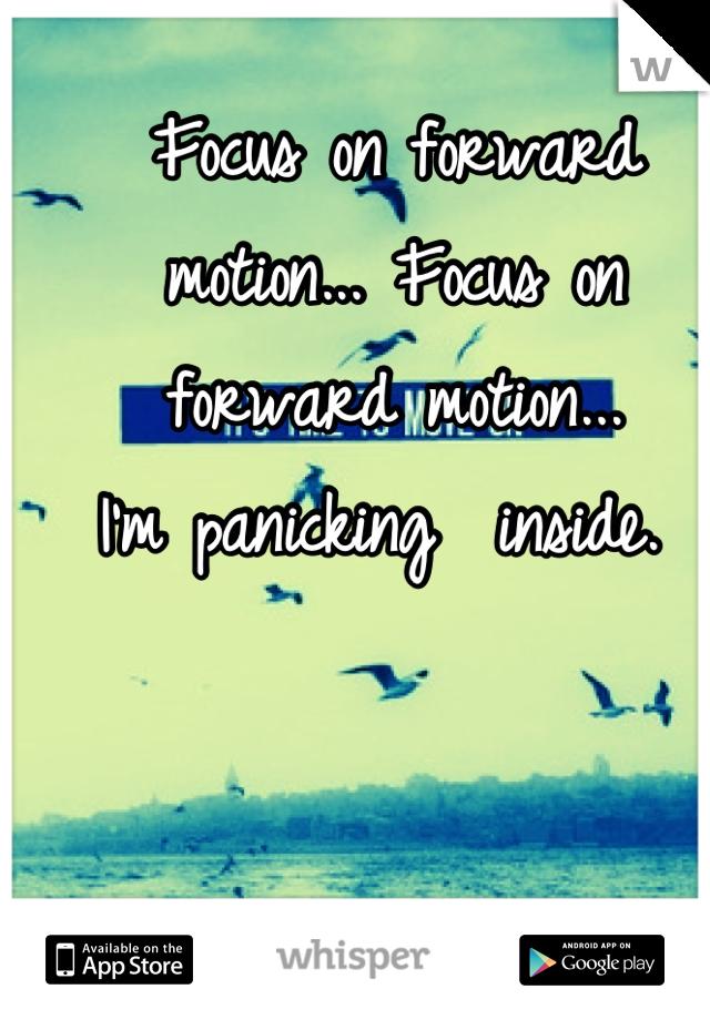 Focus on forward motion... Focus on forward motion...                             I'm panicking  inside.