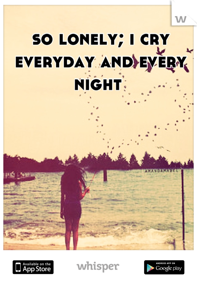 so lonely; i cry everyday and every night