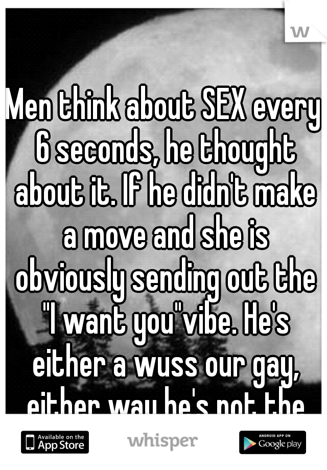 Men think of sex every