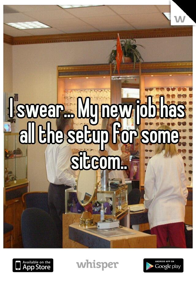 I swear... My new job has all the setup for some sitcom..
