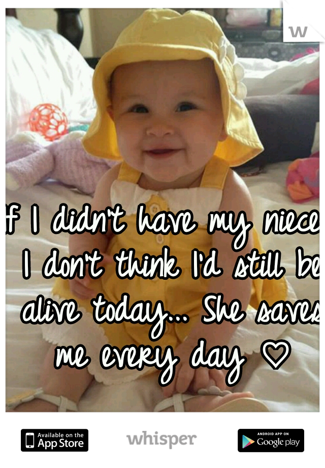 If I didn't have my niece, I don't think I'd still be alive today... She saves me every day ♡