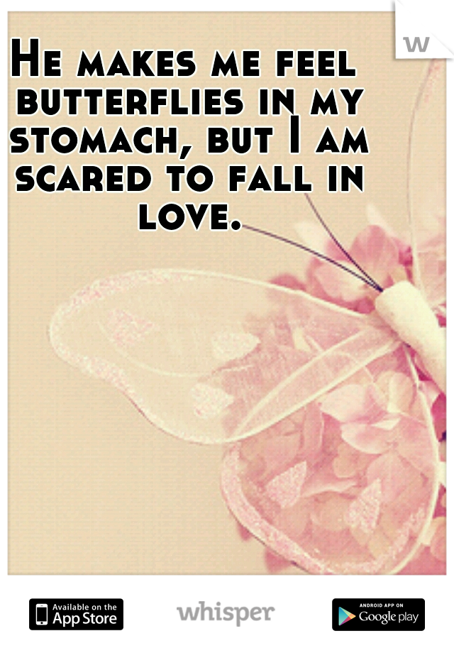 He makes me feel butterflies in my stomach, but I am scared to fall in love.