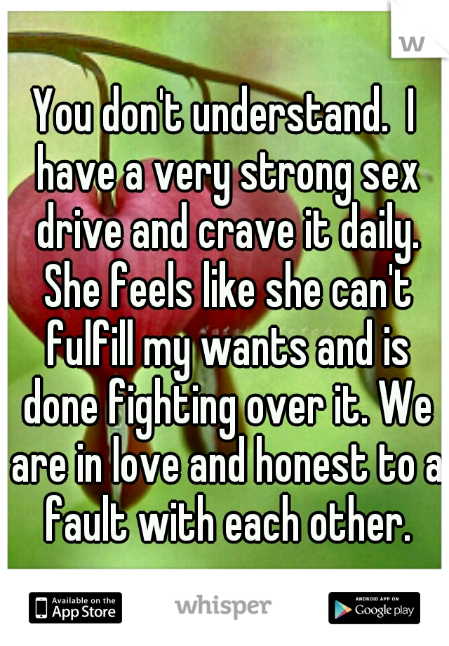 strong sex drive