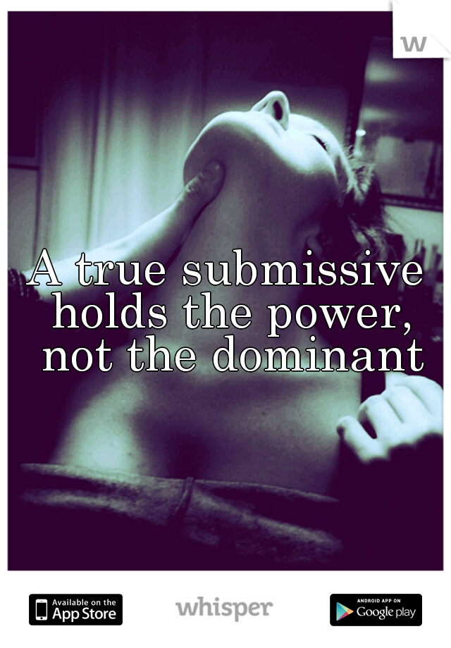 What is dominant submissive
