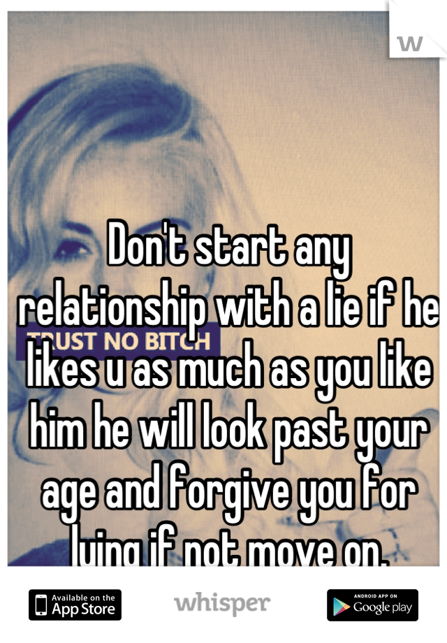How to tell a guy you lied about your age