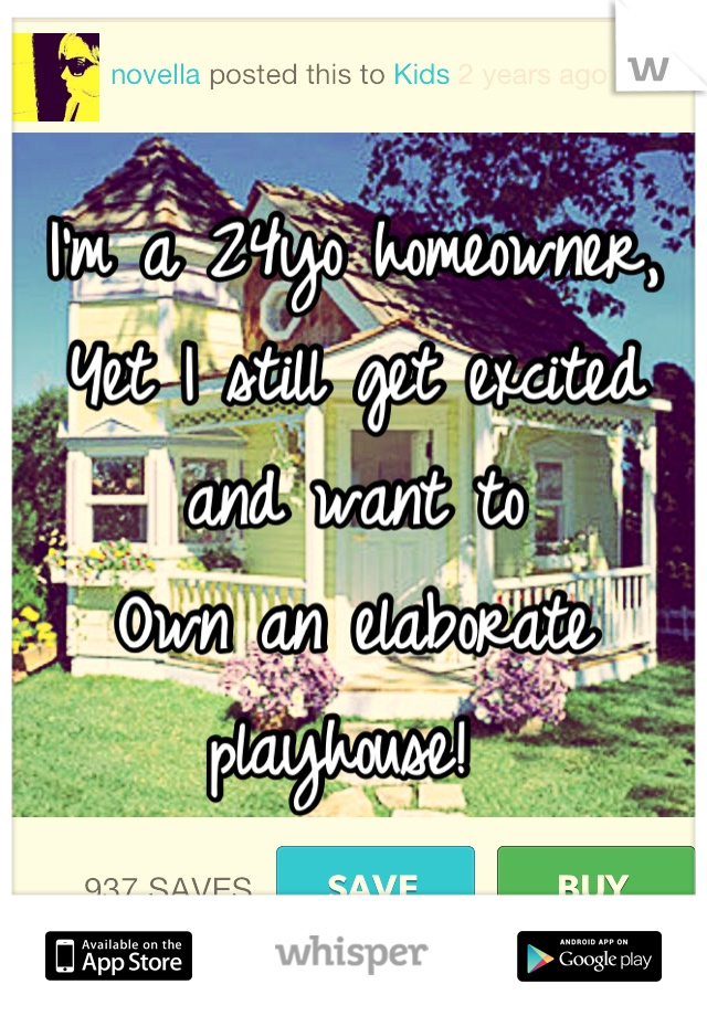 I'm a 24yo homeowner,  Yet I still get excited and want to Own an elaborate playhouse!