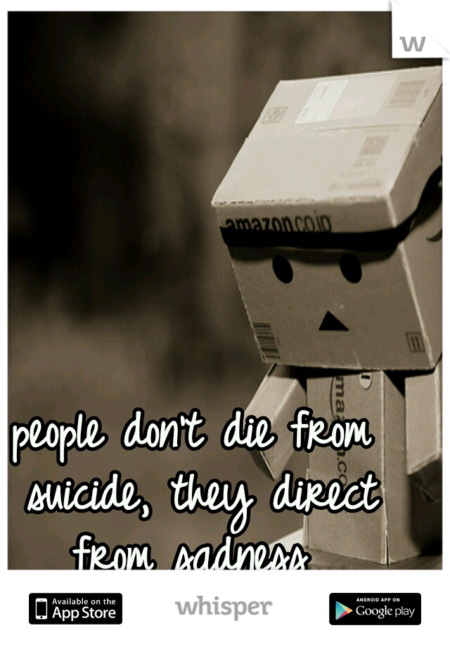 people don't die from suicide, they direct from sadness
