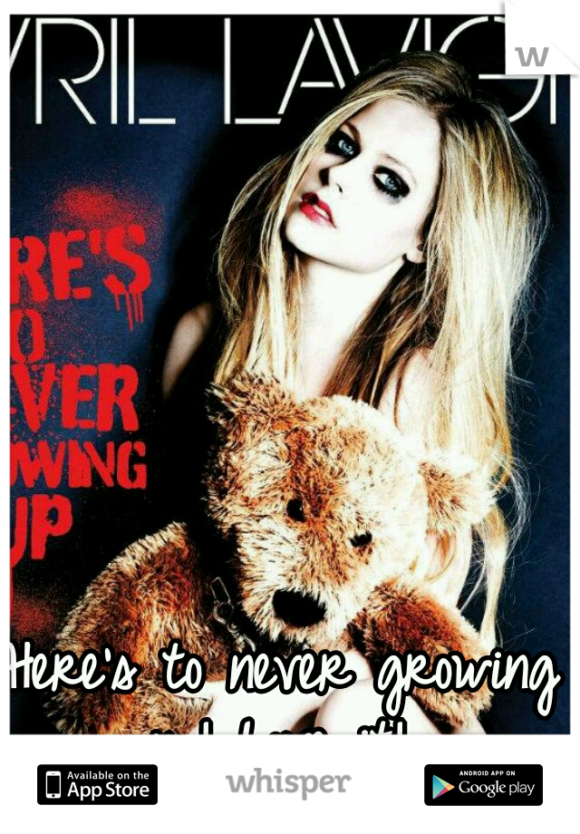 Here's to never growing up! Love it!