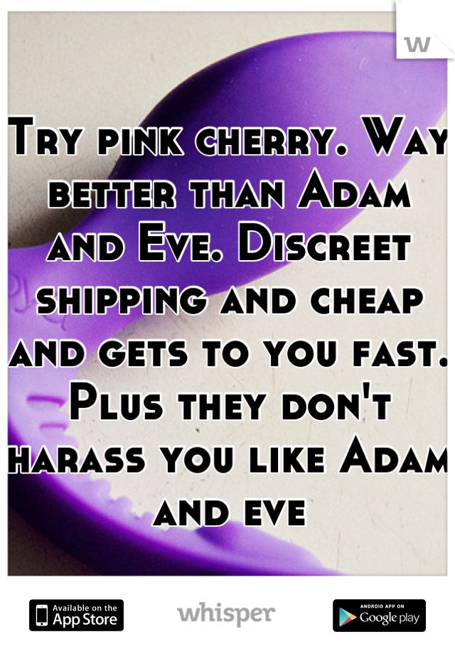 Try Pink Cherry Way Better Than Adam And Eve Discreet Shipping And Cheap And Gets To