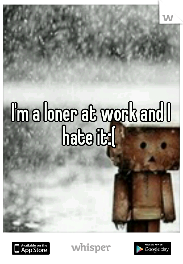 I'm a loner at work and I hate it:(