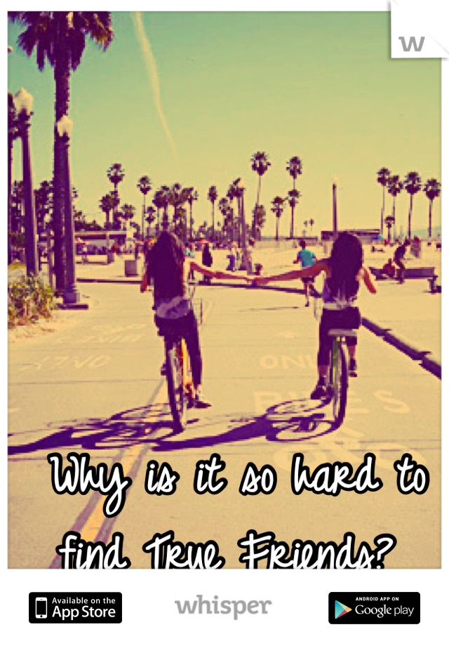 Why is it so hard to find True Friends?