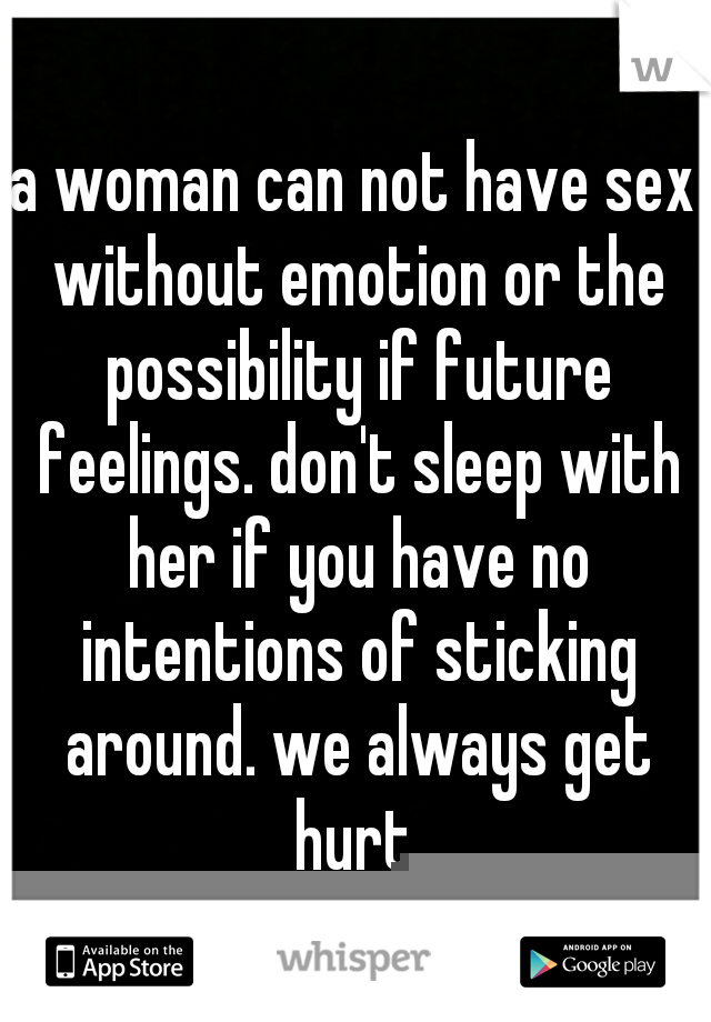 Woman has no emotion sex