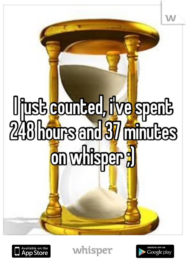 I just counted, i've spent 248 hours and 37 minutes on whisper ;)