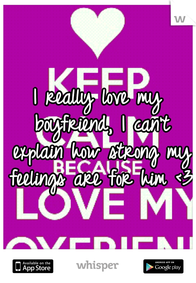 I really love my boyfriend, I can't explain how strong my feelings are for him <3