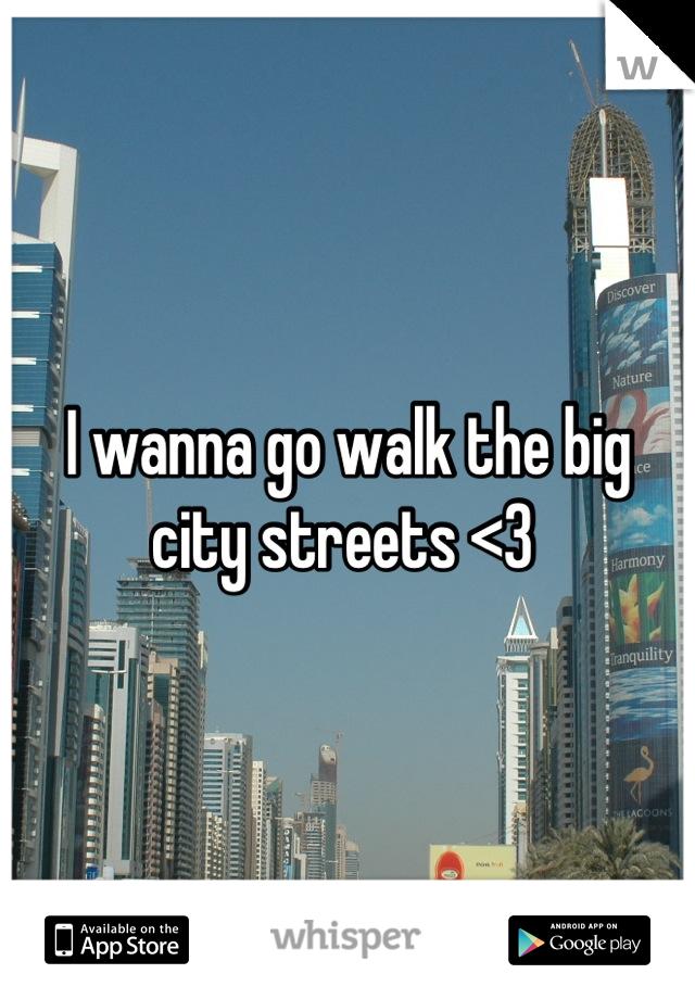 I wanna go walk the big city streets <3