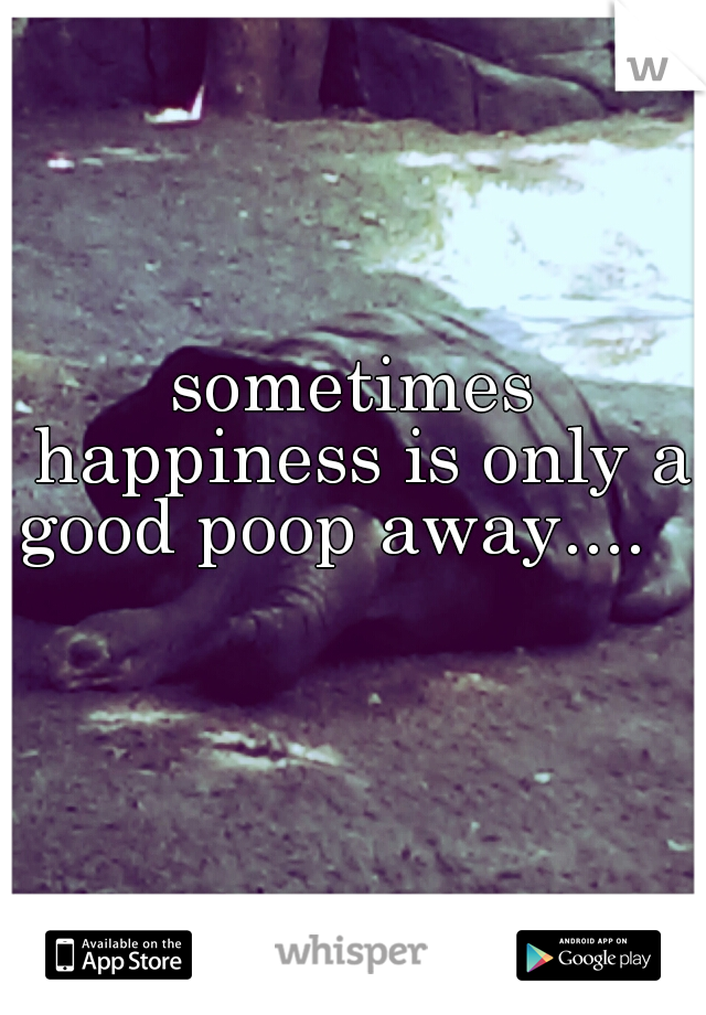 sometimes happiness is only a good poop away....