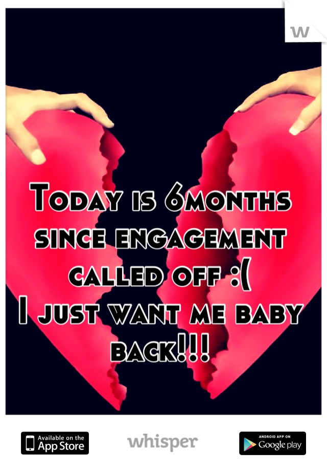 Today is 6months since engagement called off :(  I just want me baby back!!!