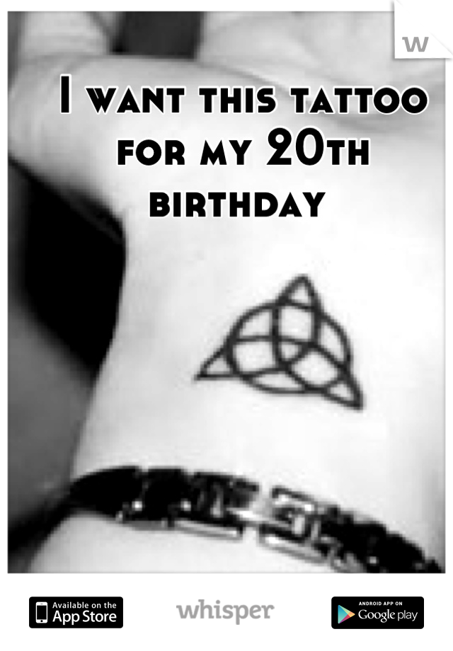 I want this tattoo for my 20th birthday