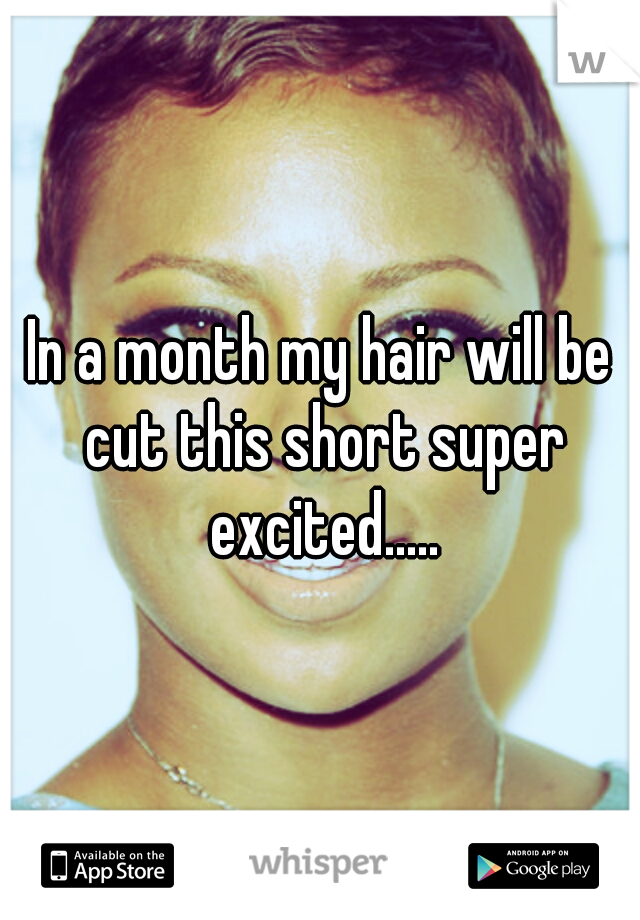 In a month my hair will be cut this short super excited.....
