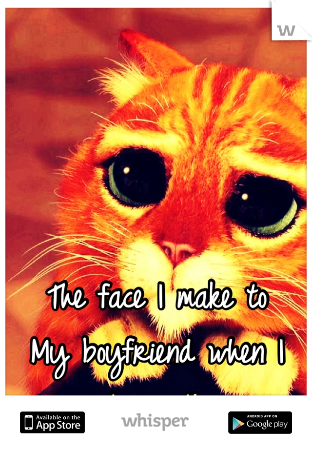The face I make to My boyfriend when I want something
