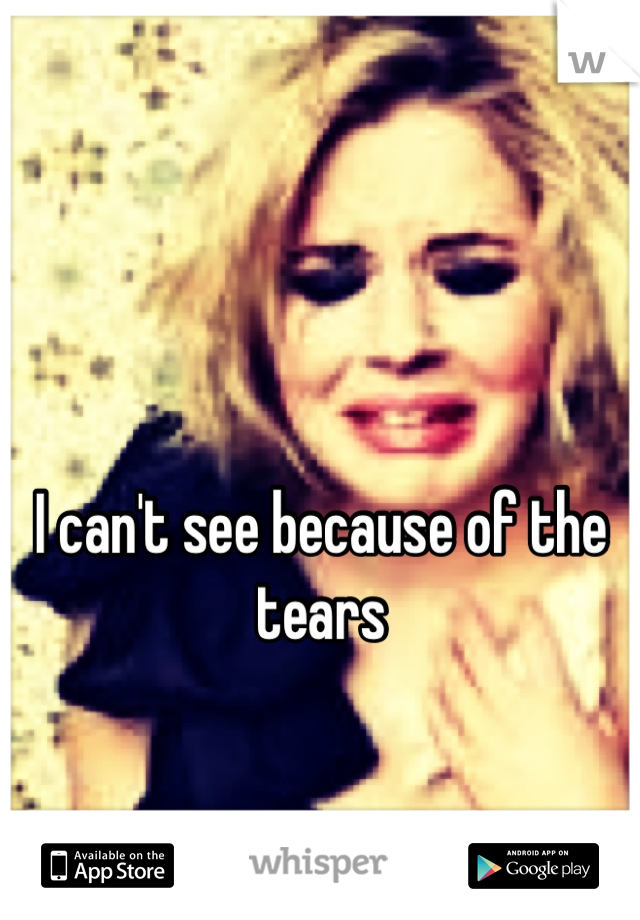 I can't see because of the tears