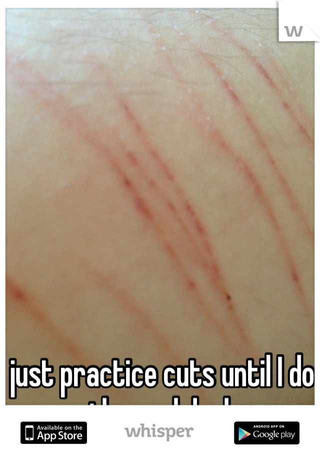 just practice cuts until I do the real deal