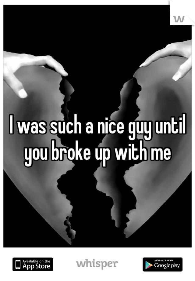 I was such a nice guy until you broke up with me