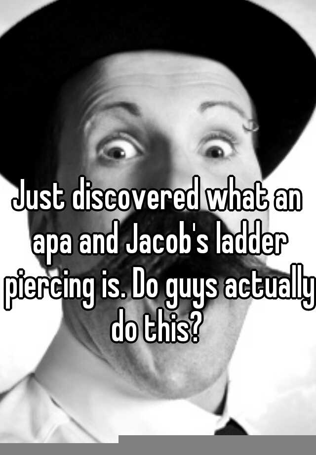 Just Discovered What An Apa And Jacob S Ladder Piercing Is Do Guys Actually Do This