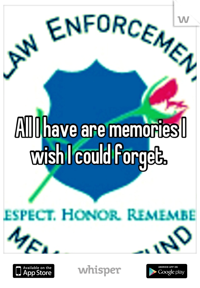 All I have are memories I wish I could forget.