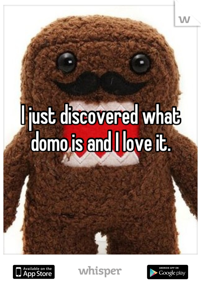 I just discovered what domo is and I love it.