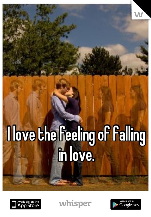 I love the feeling of falling in love.