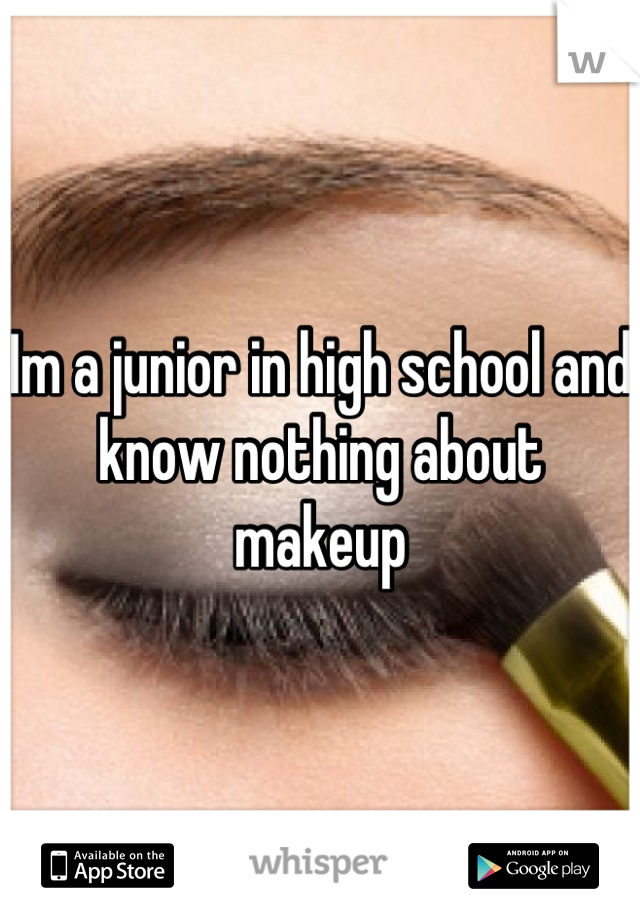 Im a junior in high school and know nothing about makeup