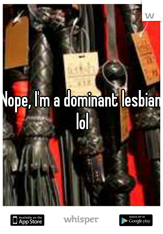 Lesbian leather dominant