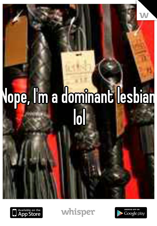 Lesbian leather dominant