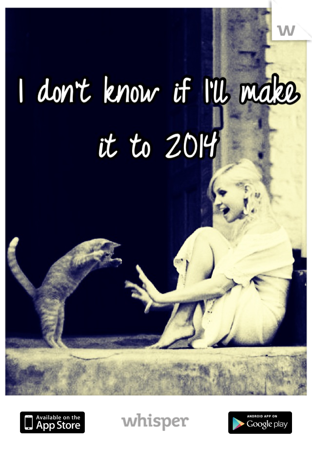 I don't know if I'll make it to 2014