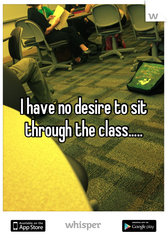 I have no desire to sit through the class.....