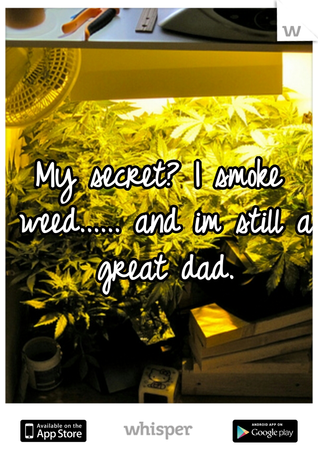 My secret? I smoke weed...... and im still a great dad.